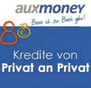 Kreditplattform von Auxmoney