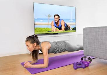 Online-Fitness für zu Hause